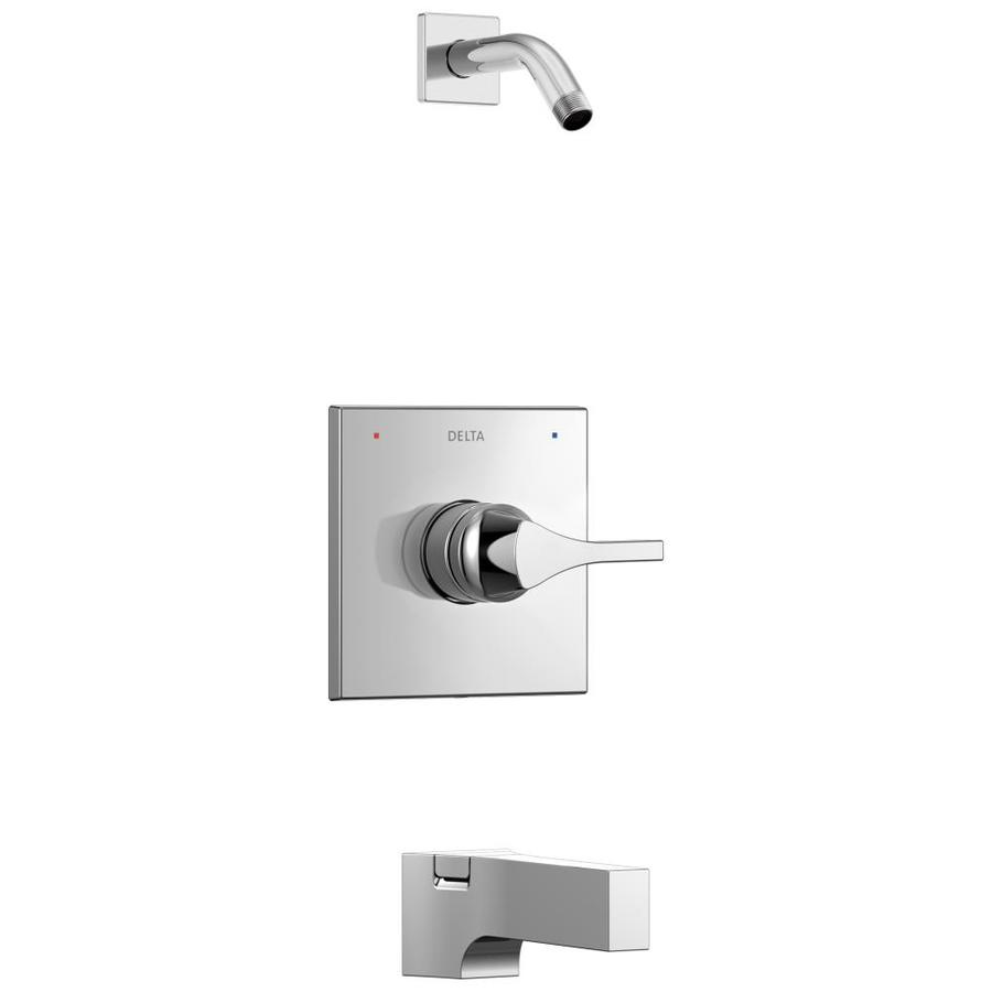 Delta Zura Chrome 1-Handle WaterSense Tub and Shower Faucet with Sold Separately Shower Faucethead
