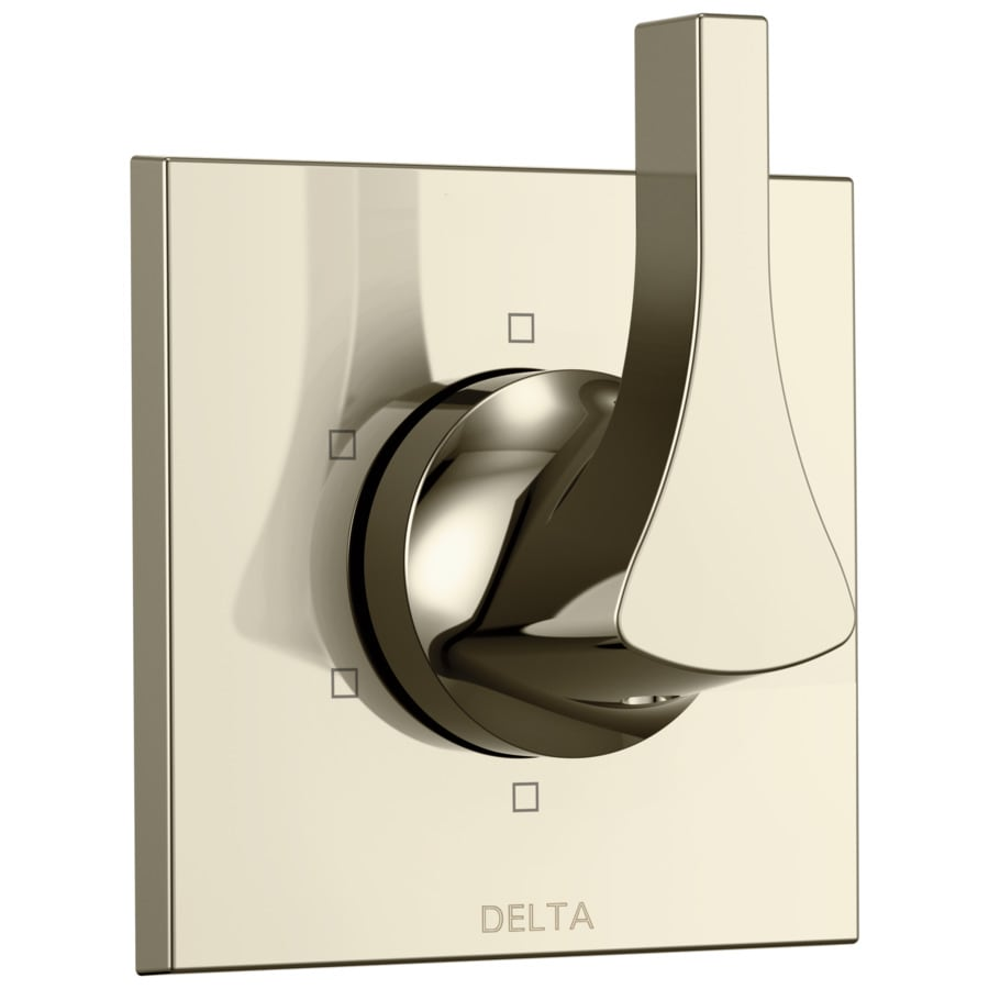 Delta Zura Polished Nickel 1-Handle Shower Faucet Trim Kit with Sold Separately Showerhead