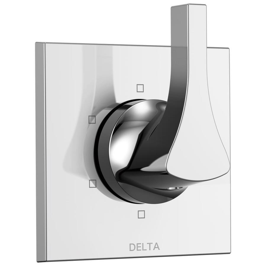 Delta Zura Chrome 1-Handle Shower Faucet Trim Kit with Sold Separately Showerhead