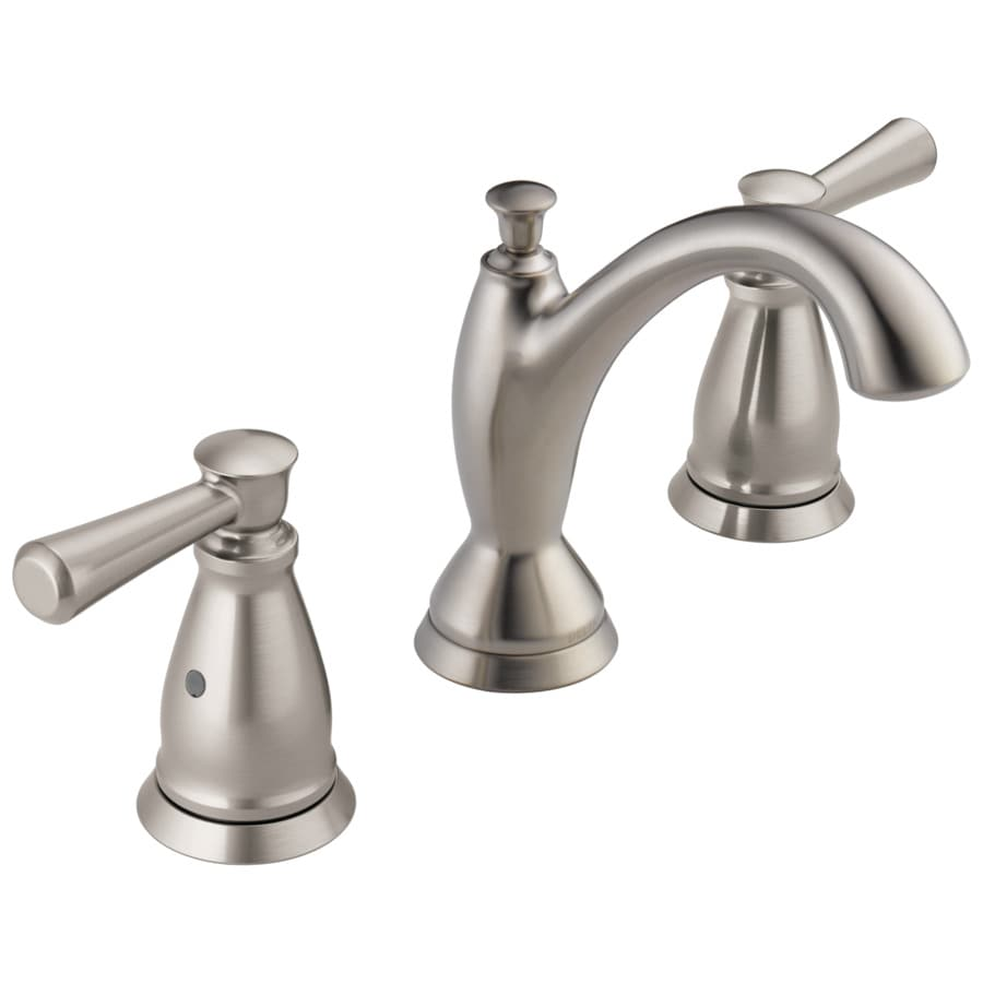 Shop Delta Linden Stainless 2-Handle Widespread Bathroom Sink Faucet At Lowes.com