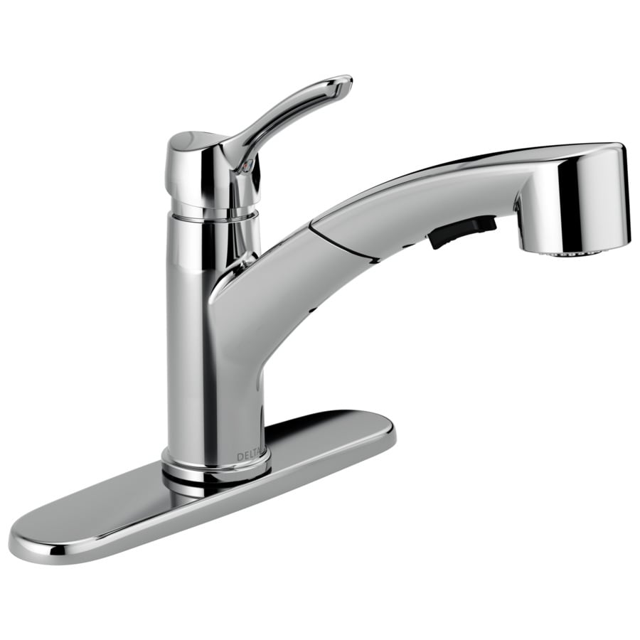 Shop Delta Collins Chrome 1 Handle Pull Out Kitchen Faucet At Lowes Com