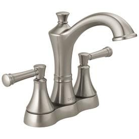 Delta Valdosta Spotshield Brushed Nickel 2 Handle 4 In Centerset Bathroom Sink Faucet