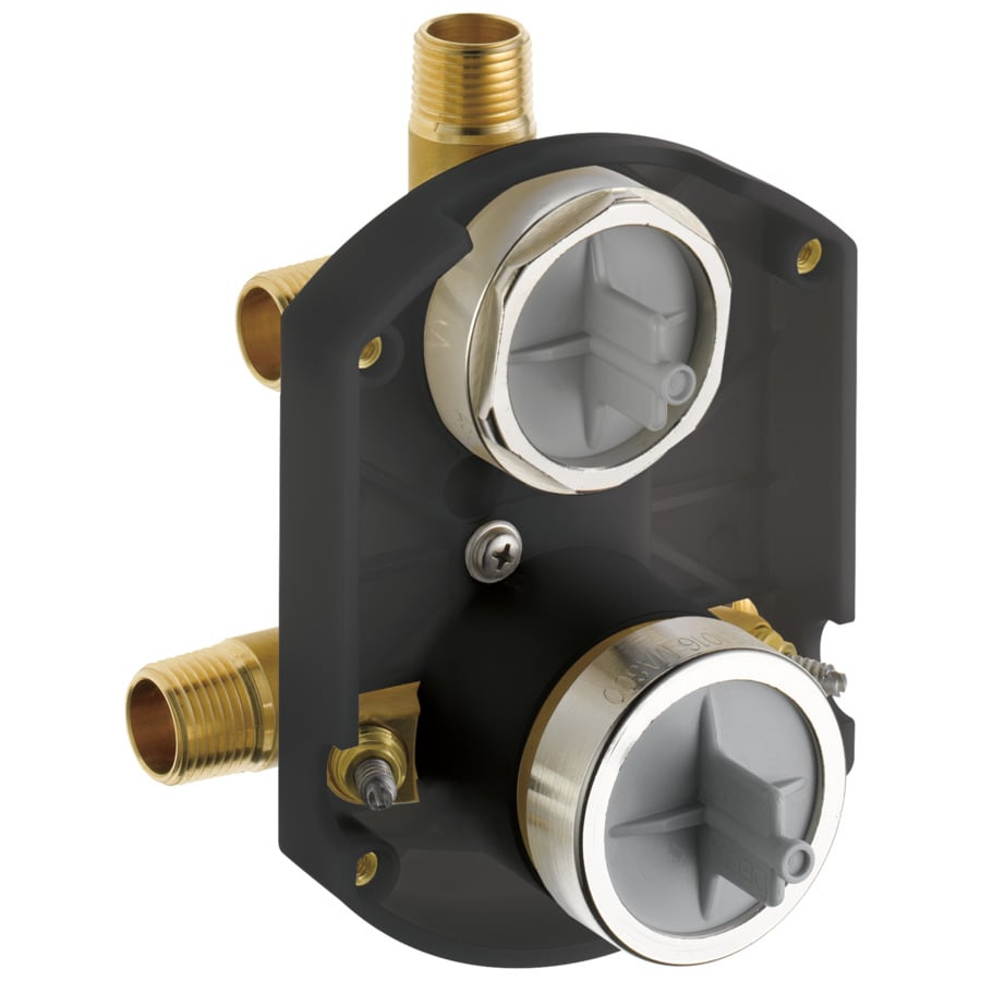 Delta 1/2-in Brass Dual Pattern In-Line Rough-in Valve with Integral Stops