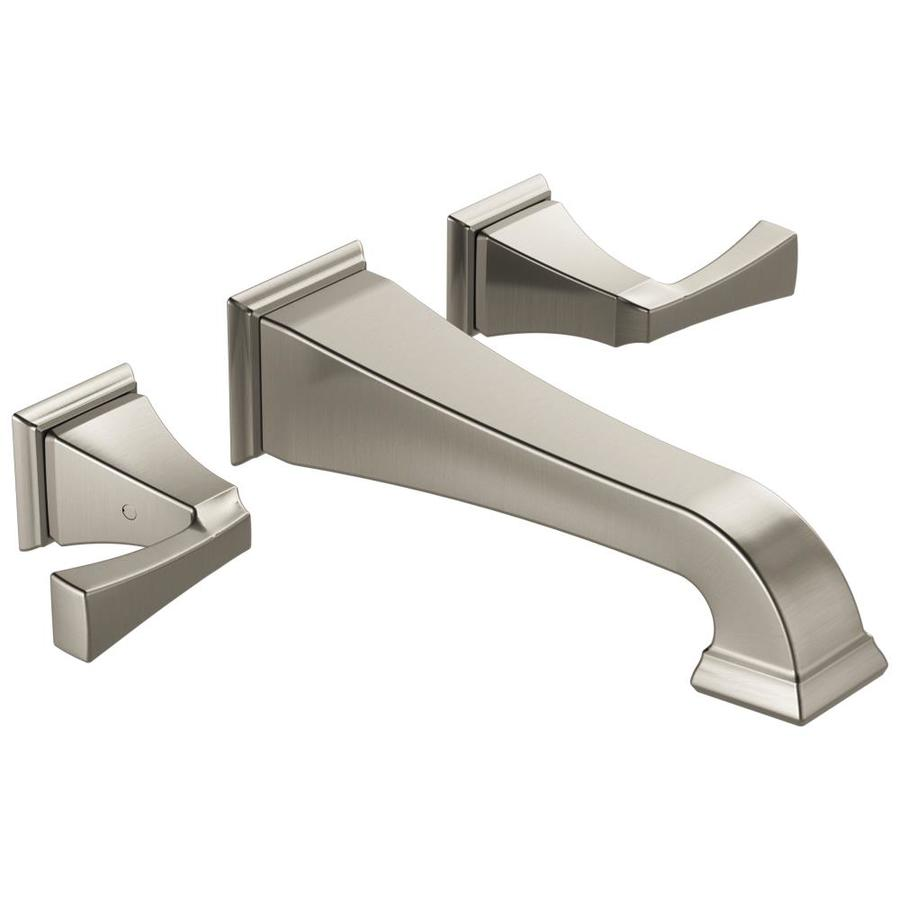 Delta Dryden Spotshield Stainless 2-Handle Widespread WaterSense Bathroom Faucet