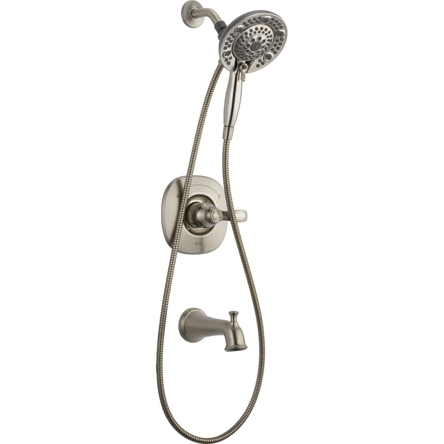 Delta Nura Stainless 1 Handle Bathtub And Shower Faucet With Valve