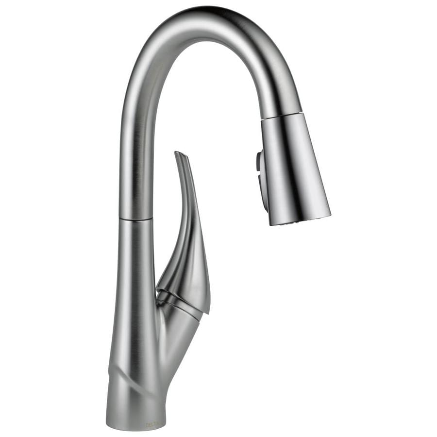 Delta Esque Arctic Stainless 1-Handle Bar and Prep Faucet
