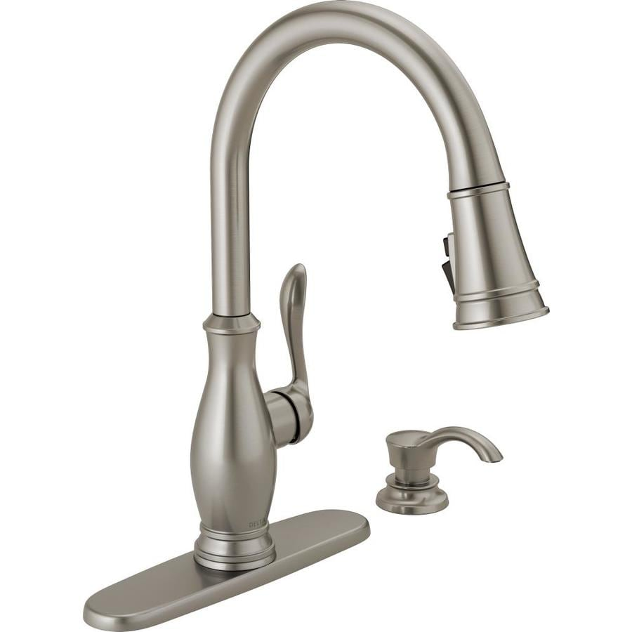 Delta Zalia SpotShield Stainless 1-Handle Pull-Down Kitchen Faucet