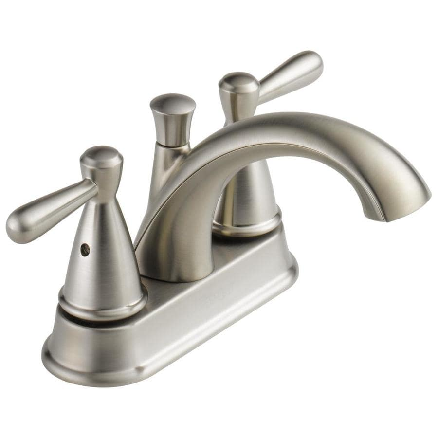 Peerless Bayside Brushed Nickel 2 Handle 4 In Centerset Bathroom Faucet