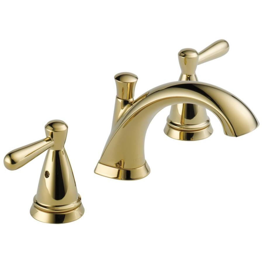 shop peerless bayside polished brass 2-handle widespread bathroom