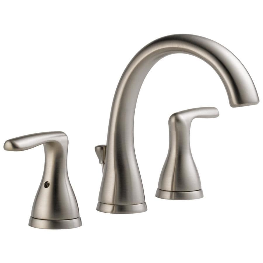 Peerless Dulcet Brushed Nickel 2 Handle Widespread Bathroom Faucet