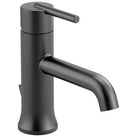 delta trinsic matte black 1 handle single hole4 in centerset bathroom sink - Black Bathroom Faucets