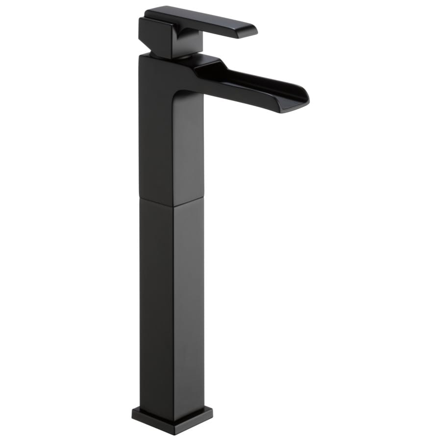 Delta Ara Matte Black 1 Handle Vessel Watersense Bathroom