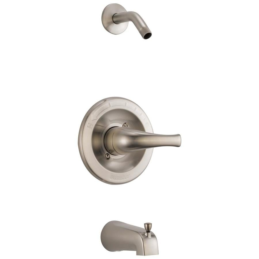 Peerless Choice Brushed Nickel 1-Handle Tub and Shower with Sold Separately Showerhead