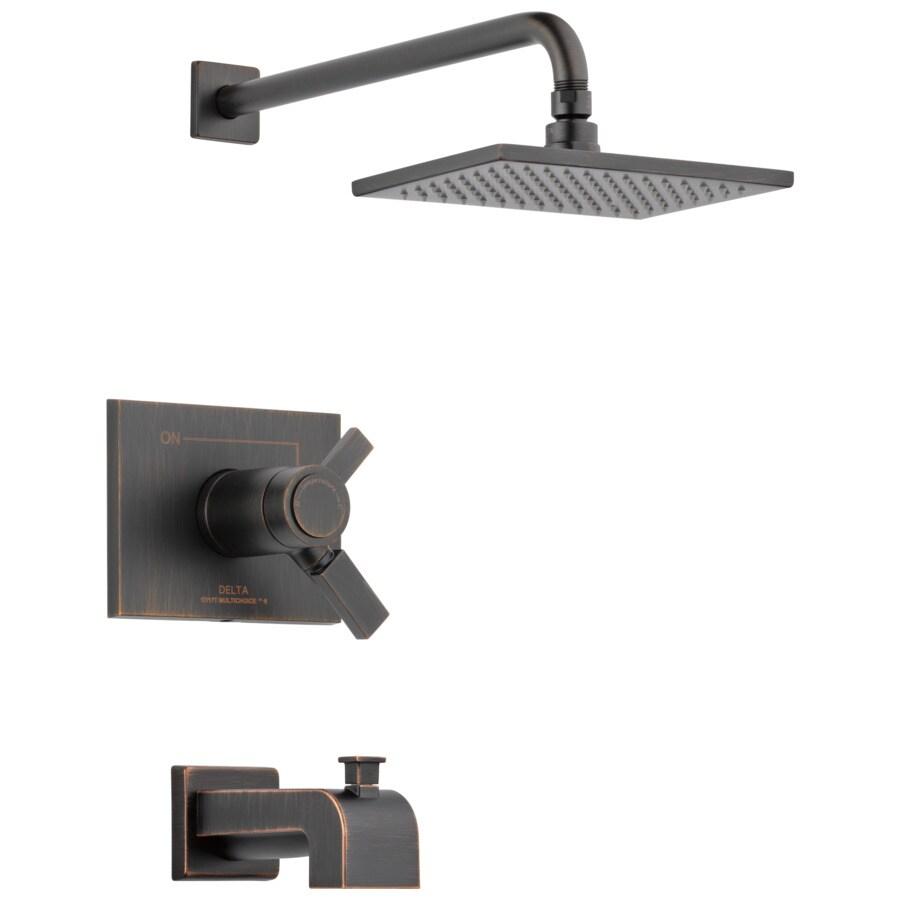 Delta Vero Tempassure Venetian Bronze 1-Handle Bathtub and Shower Faucet Trim Kit with Single Function Showerhead
