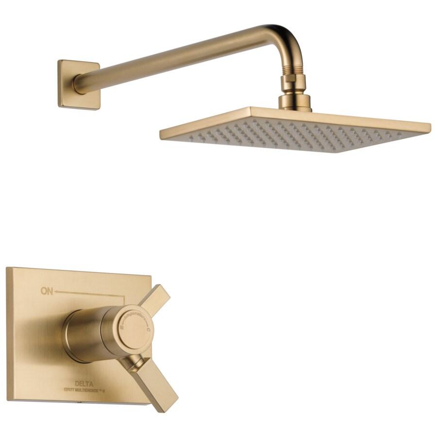 Delta Vero Tempassure Champagne Bronze 1-Handle Shower Faucet Trim Kit with Single Function Showerhead