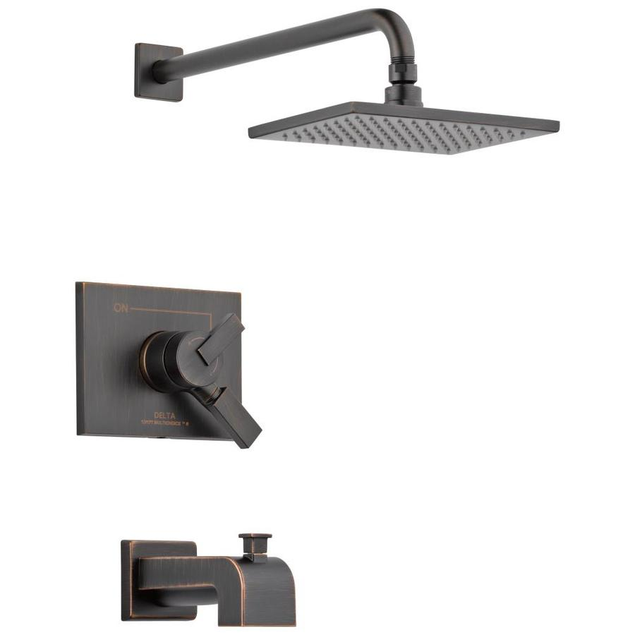 Delta Vero Venetian Bronze 1-Handle Bathtub and Shower Faucet Trim Kit with Single Function Showerhead