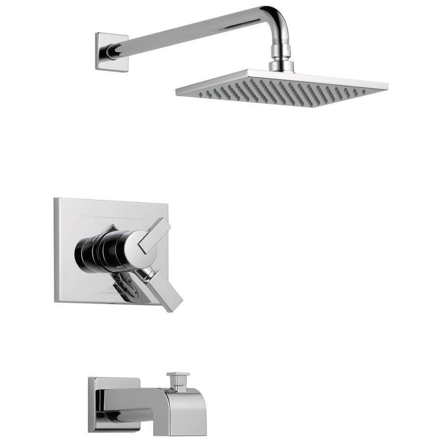 Delta Vero Chrome 1-Handle Bathtub and Shower Faucet Trim Kit with Single Function Showerhead