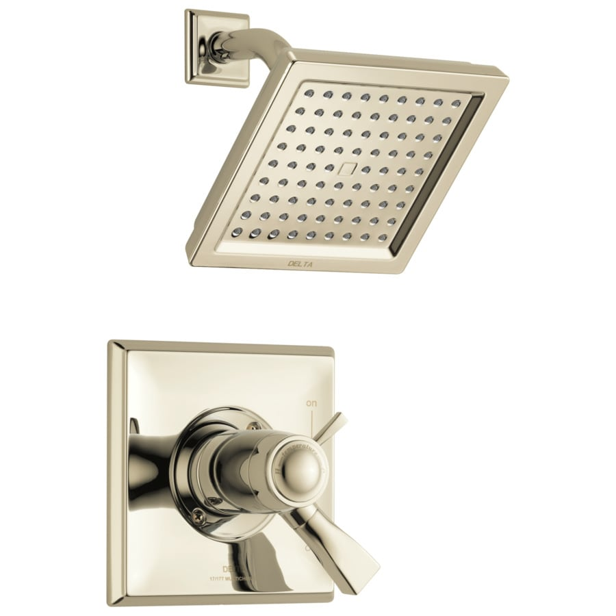 Delta Dryden Polished Nickel 1-Handle WaterSense Shower Faucet with Single Function Showerhead