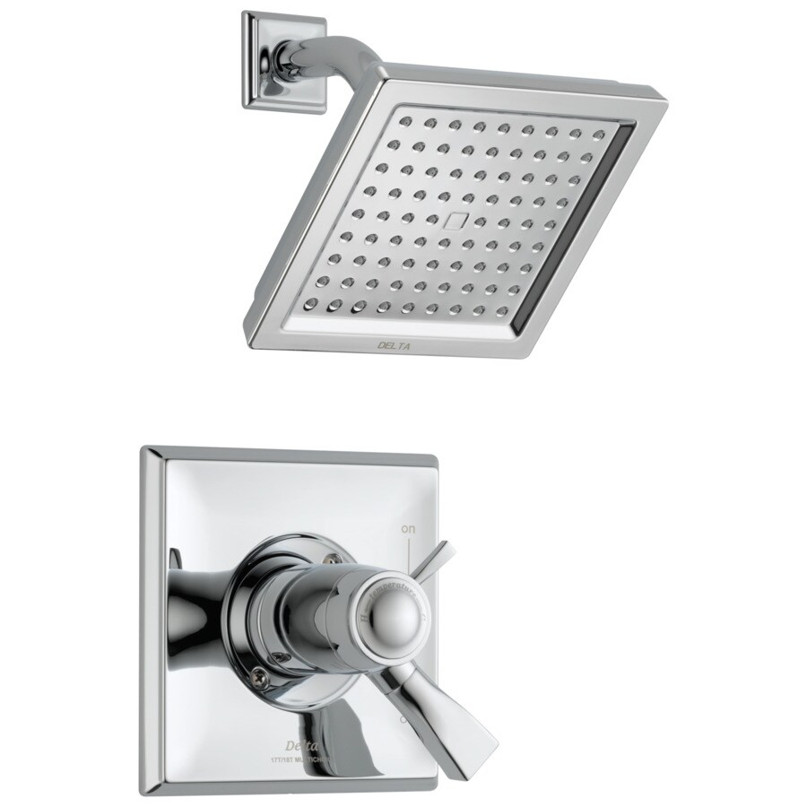 Delta Dryden Chrome 1-Handle WaterSense Shower Faucet with Single Function Showerhead