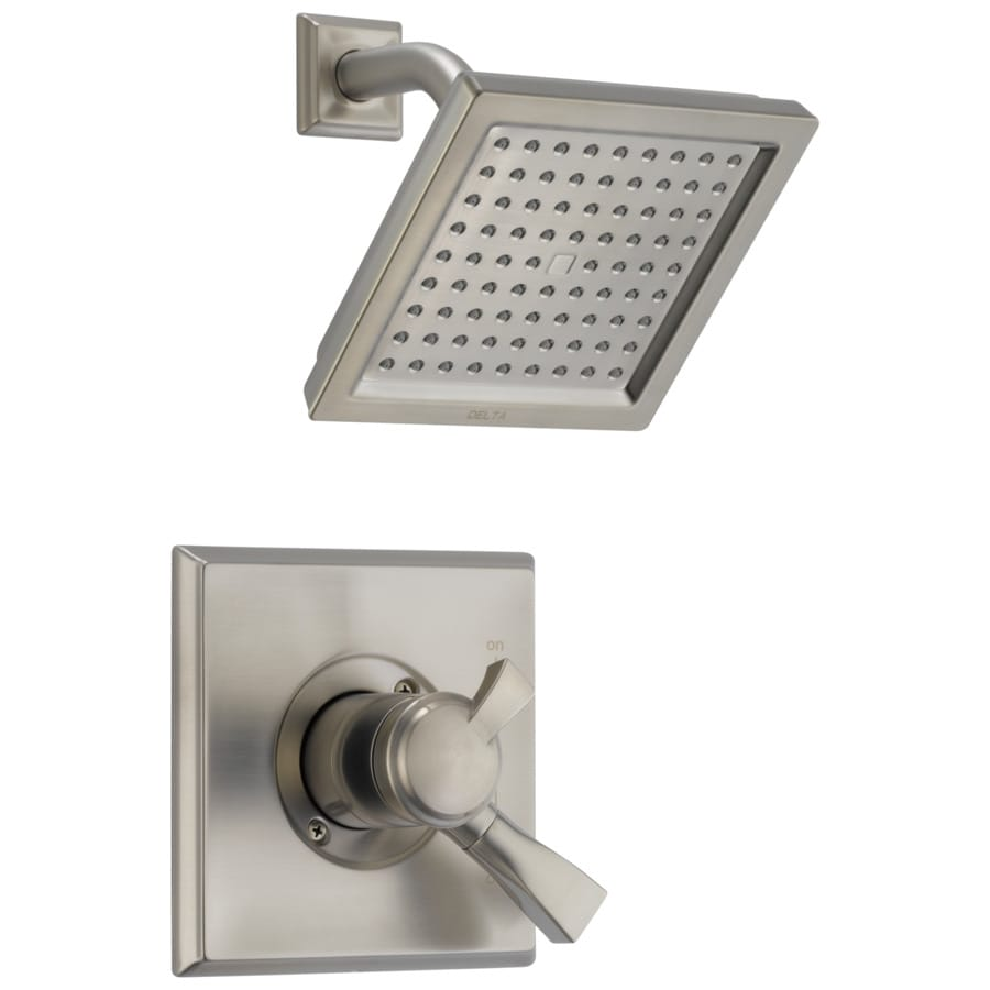 Delta Dryden Stainless 1-Handle WaterSense Shower Faucet with Single Function Showerhead