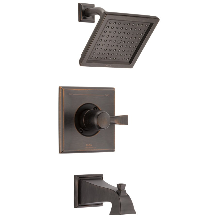 Delta Dryden Venetian Bronze 1-Handle WaterSense Tub and Shower with Single Function Showerhead