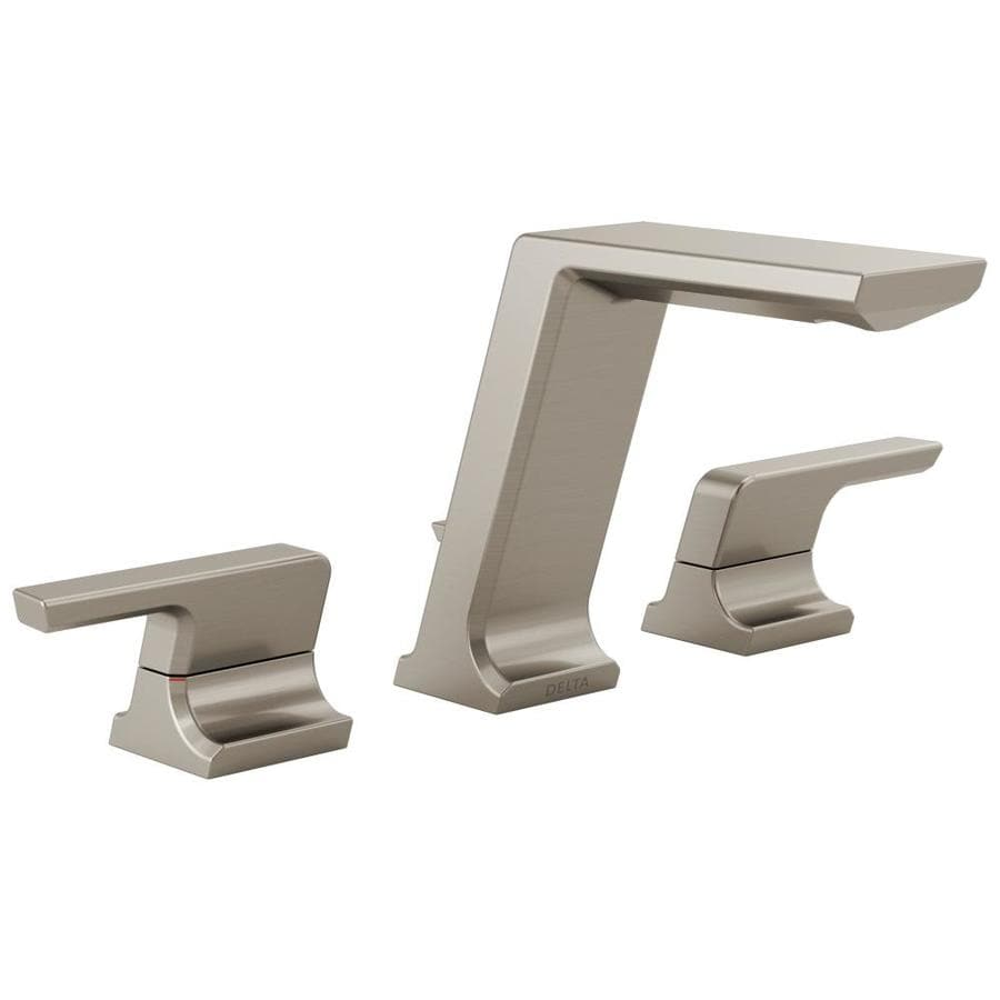 Shop Delta Pivotal Stainless 2-Handle Widespread Bathroom Sink Faucet At Lowes.com