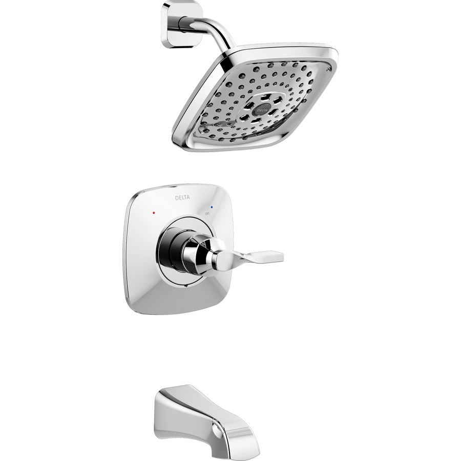 delta sawyer chrome 1handle bathtub and shower faucet with valve