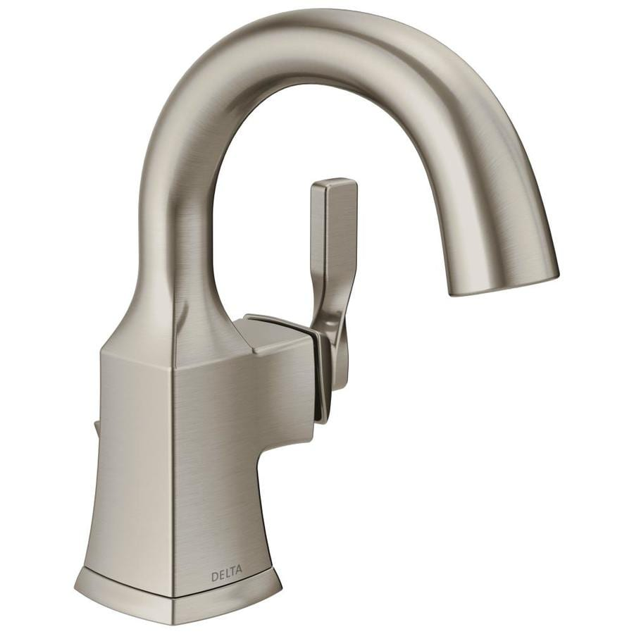 Delta Sawyer Spotshield Brushed Nickel 1 Handle Single Hole