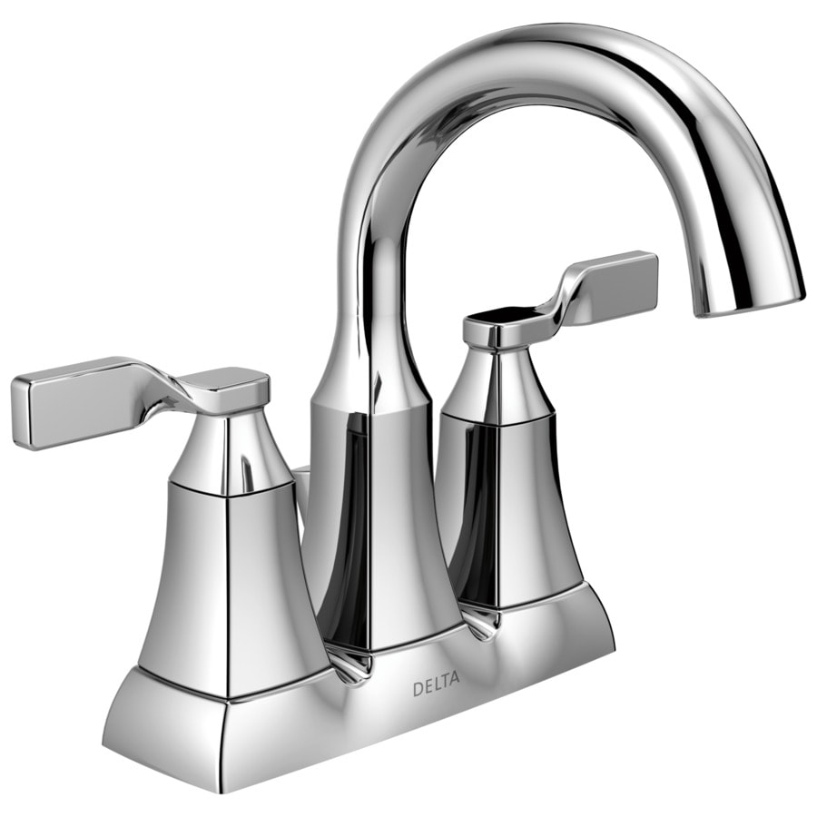 Delta Sawyer Chrome 2-Handle 4-in Centerset Bathroom Faucet (Drain Included)