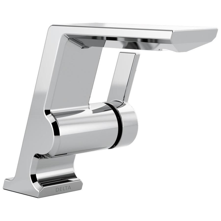 Delta Pivotal Chrome 1-Handle Single Hole/4-in Centerset Bathroom Sink Faucet
