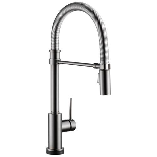 Trinsic Pro Black Stainless 1-Handle Deck Mount Pull-down Touch Residential  Kitchen Faucet
