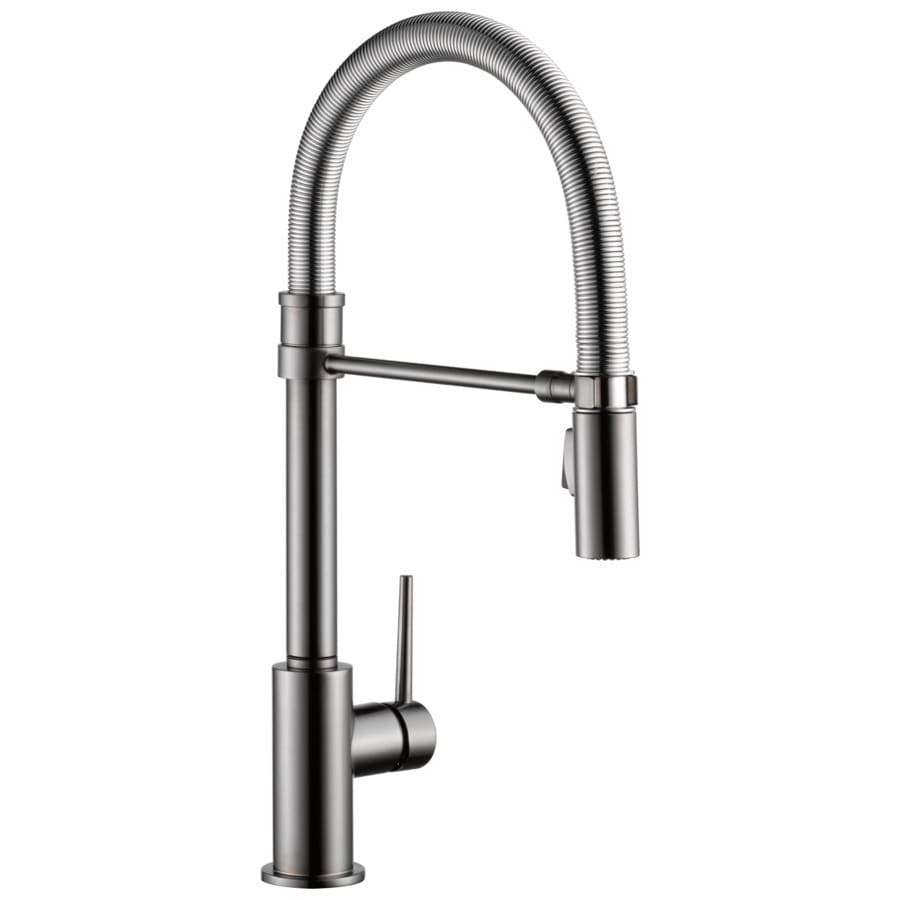 Delta Trinsic Pro Black Stainless 1 Handle Deck Mount Pull Down Kitchen Faucet