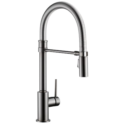 Trinsic Pro Black Stainless 1-Handle Deck Mount Pull-down Residential  Kitchen Faucet