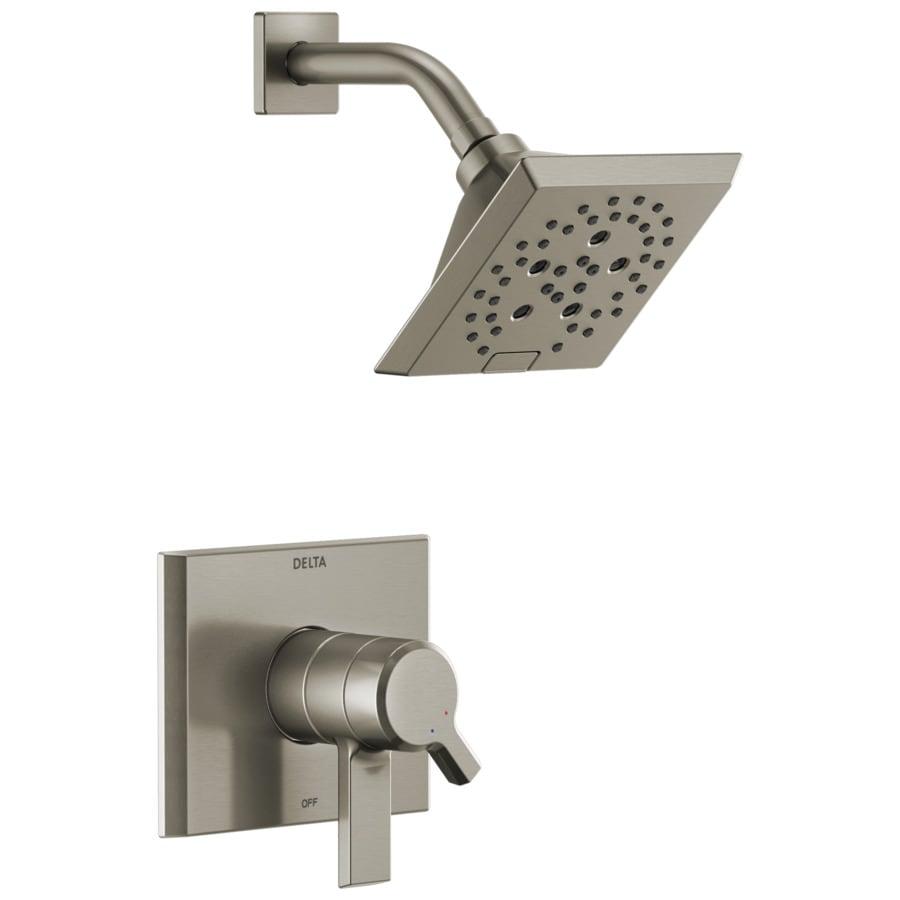 Delta Pivotal Stainless 1-Handle Shower Faucet