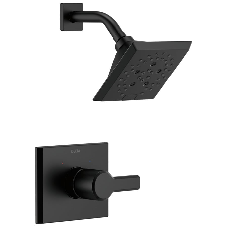 Shop Delta Pivotal Matte Black 1-Handle Shower Faucet at Lowes.com