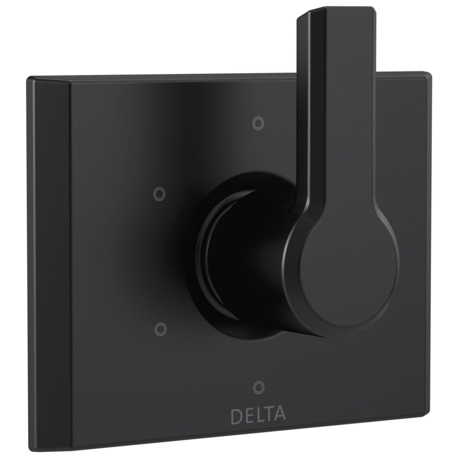 Shop Delta Pivotal Matte Black 1-handle Bathtub And Shower Faucet at ...