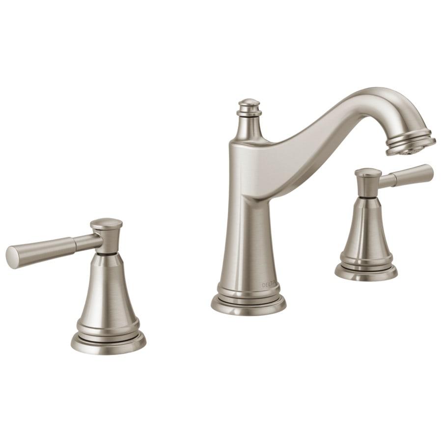 Delta Mylan Spotshield Brushed Nickel 2-handle Bathroom Sink Faucet