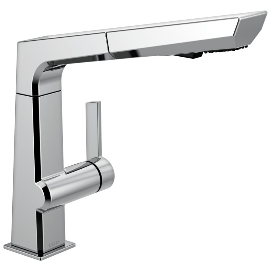 Delta Pivotal Chrome 1 Handle Pull Out Kitchen Faucet At