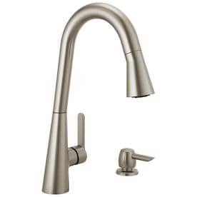 Exceptional Delta Sadie Spotshield Stainless 1 Handle Deck Mount Pull Down ShieldSpray Kitchen  Faucet