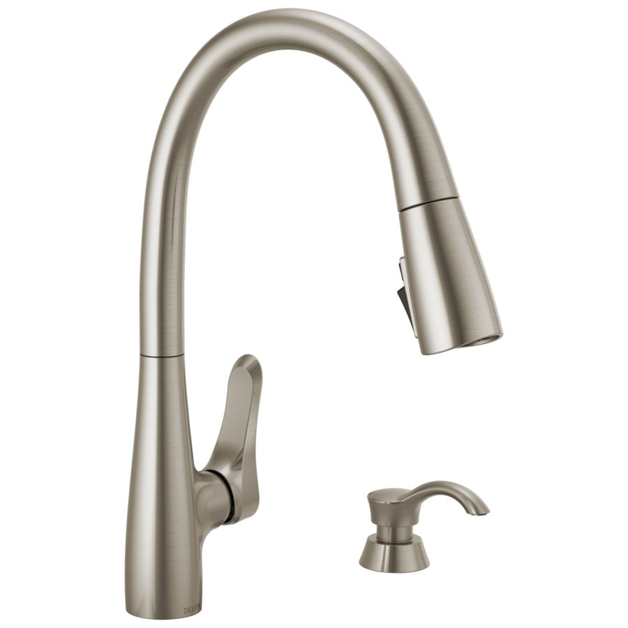 Delta Dunsley Spotshield Stainless 1 Handle Pull Down Kitchen Faucet