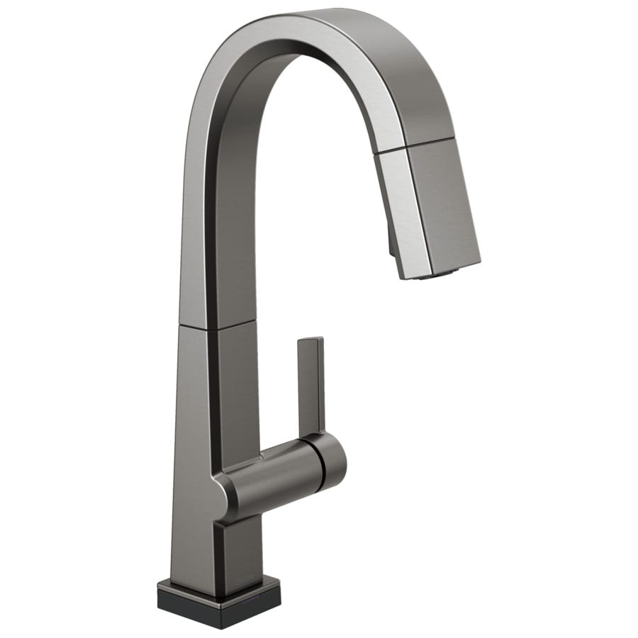 Kitchen Faucet Keeps Getting Loose: Delta Pivotal Black Stainless 1-Handle Deck Mount Touch