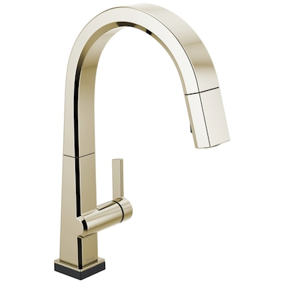 Pivotal Polished Nickel 1 Handle Deck Mount Pull Down Touch Kitchen Faucet