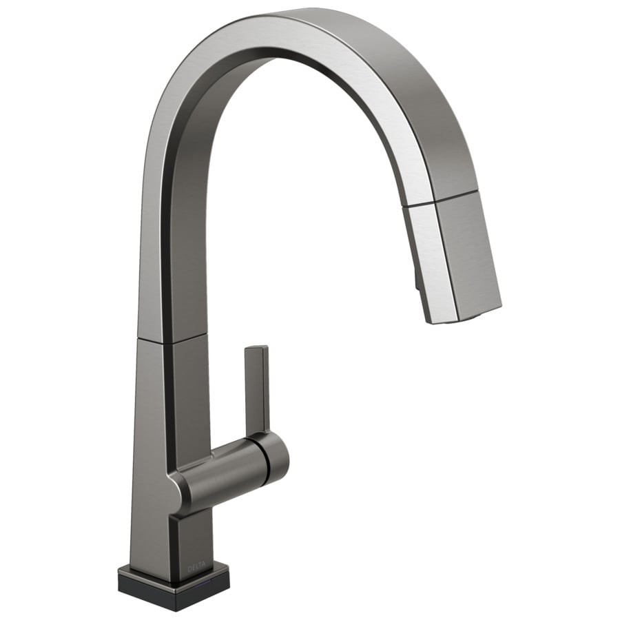 Delta Pivotal Black Stainless 1 Handle Pull Down Kitchen Faucet At