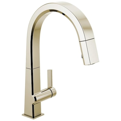 Delta Pivotal Polished Nickel 1-handle Deck Mount Pull-down ...