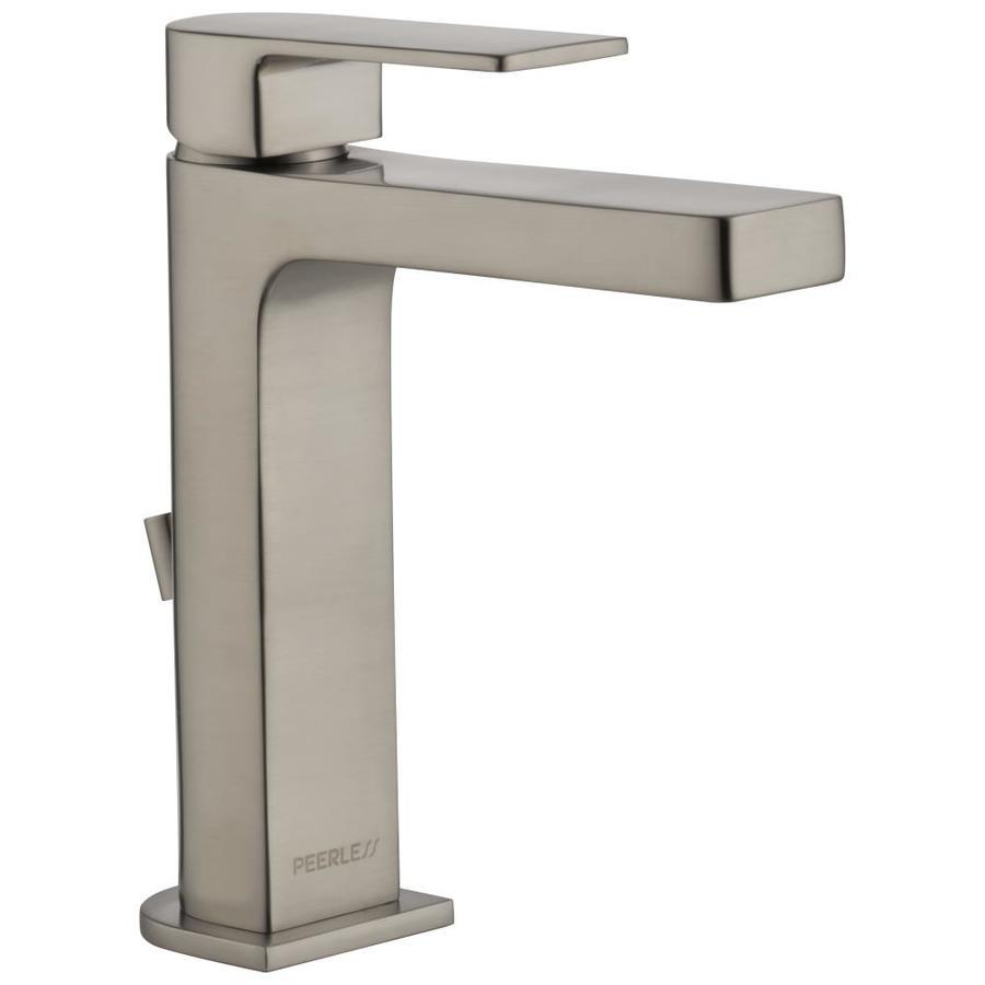 Peerless Bathroom Faucets: Shop Peerless Xander Brushed Nickel 1-Handle Single Hole/4