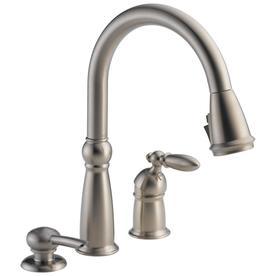 Delta Victorian Stainless 1-handle Deck Mount Pull-down ShieldSpray Kitchen Faucet