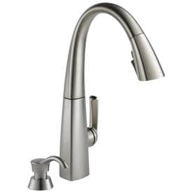 Charmant Delta Arc Spotshield Stainless 1 Handle Deck Mount Pull Down ShieldSpray Kitchen  Faucet