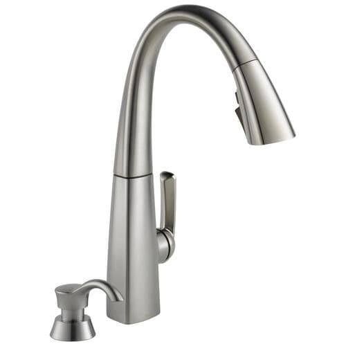 Arc Spotshield Stainless 1-Handle Deck Mount Pull-down Residential Kitchen  Faucet