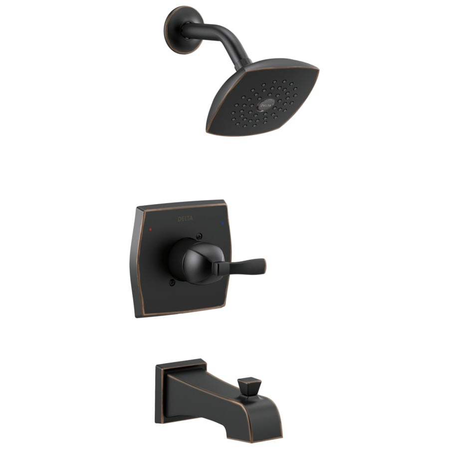 Delta Flynn Oil Rubbed Bronze 1 Handle Bathtub And Shower Faucet With Valve