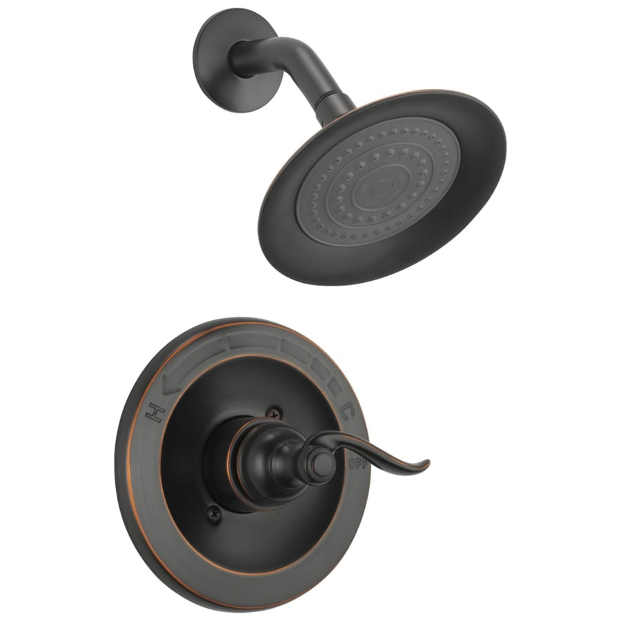 Delta windemere oil rubbed bronze 1 handle shower faucet - Delta oil rubbed bronze bathroom faucets ...